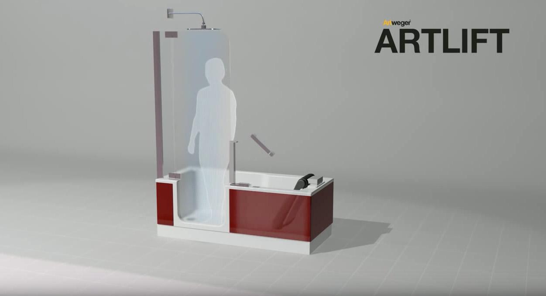 Altersgerechtes Bad mit Badewanne | Artweger
