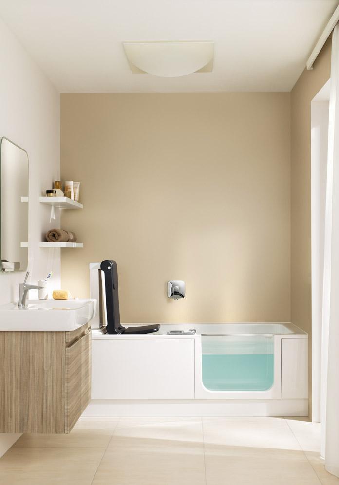 Shower bathtub ARTLIFT with seat lift | Artweger