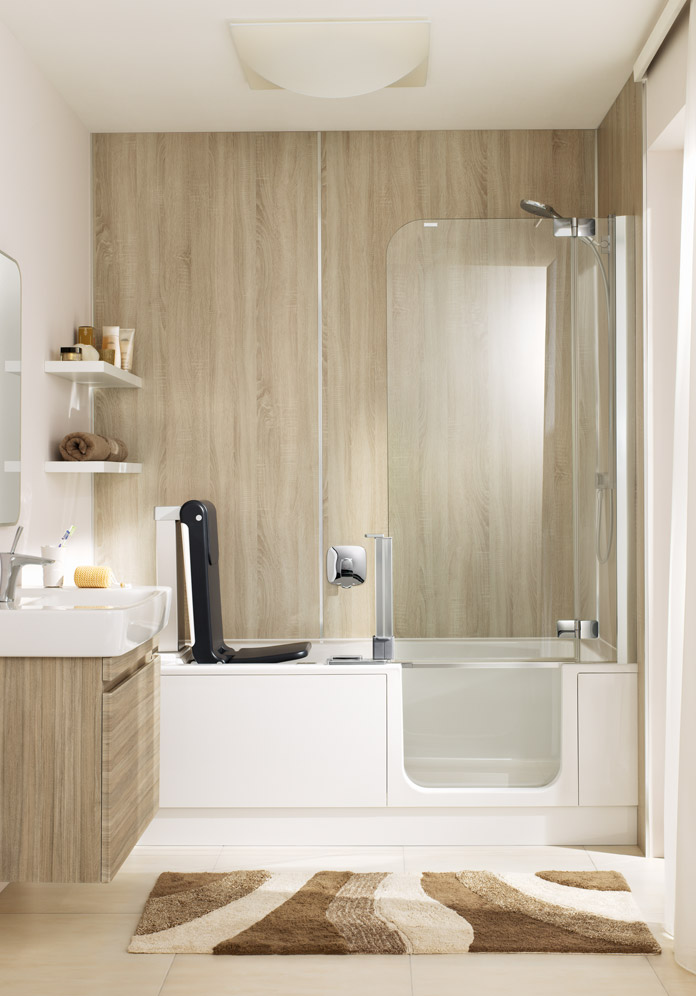 Shower bathtub ARTLIFT with seat lift | Artweger | {Duschbadewanne mit tür 38}