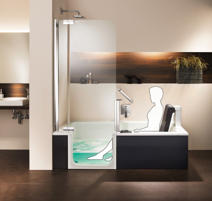 video artlift duschbadewanne mit hebesitz artweger. Black Bedroom Furniture Sets. Home Design Ideas
