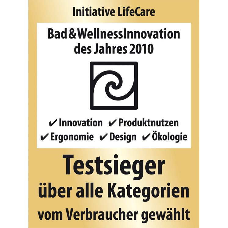 Initiativ LifeCare Testsieger 2010 | © Artweger GmbH. & Co. KG