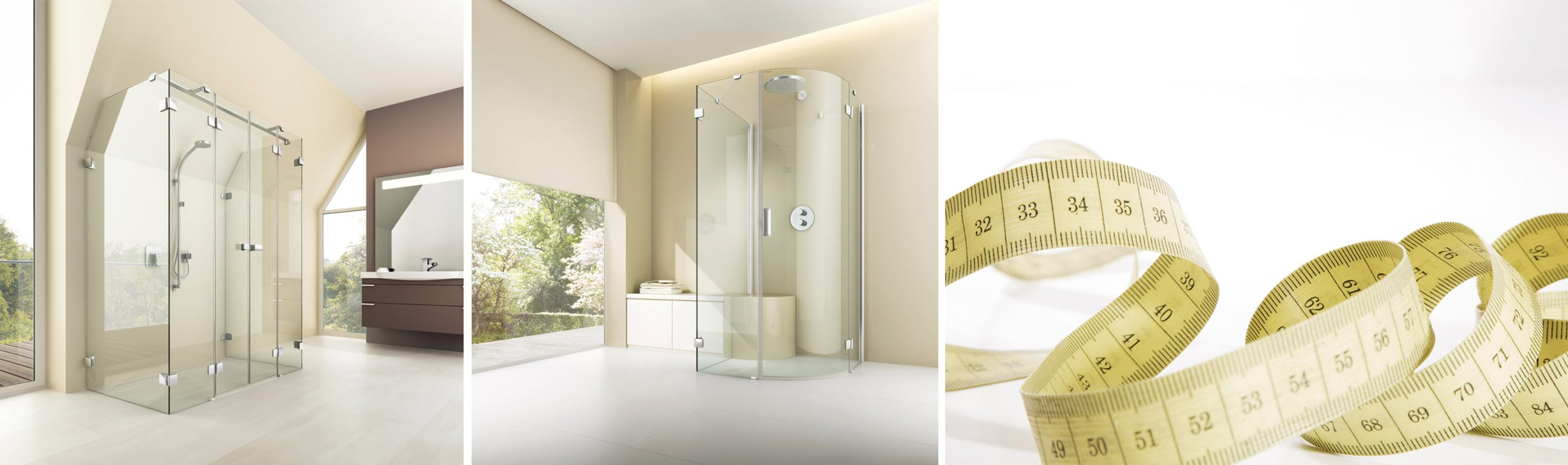 Custom constructions for showers