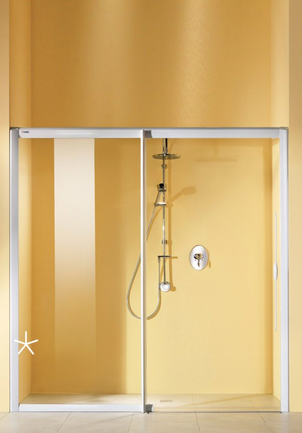 LIFELINE MOBIL Double sliding door with side screen (*Pic. in alcove) | © Artweger GmbH. & Co. KG