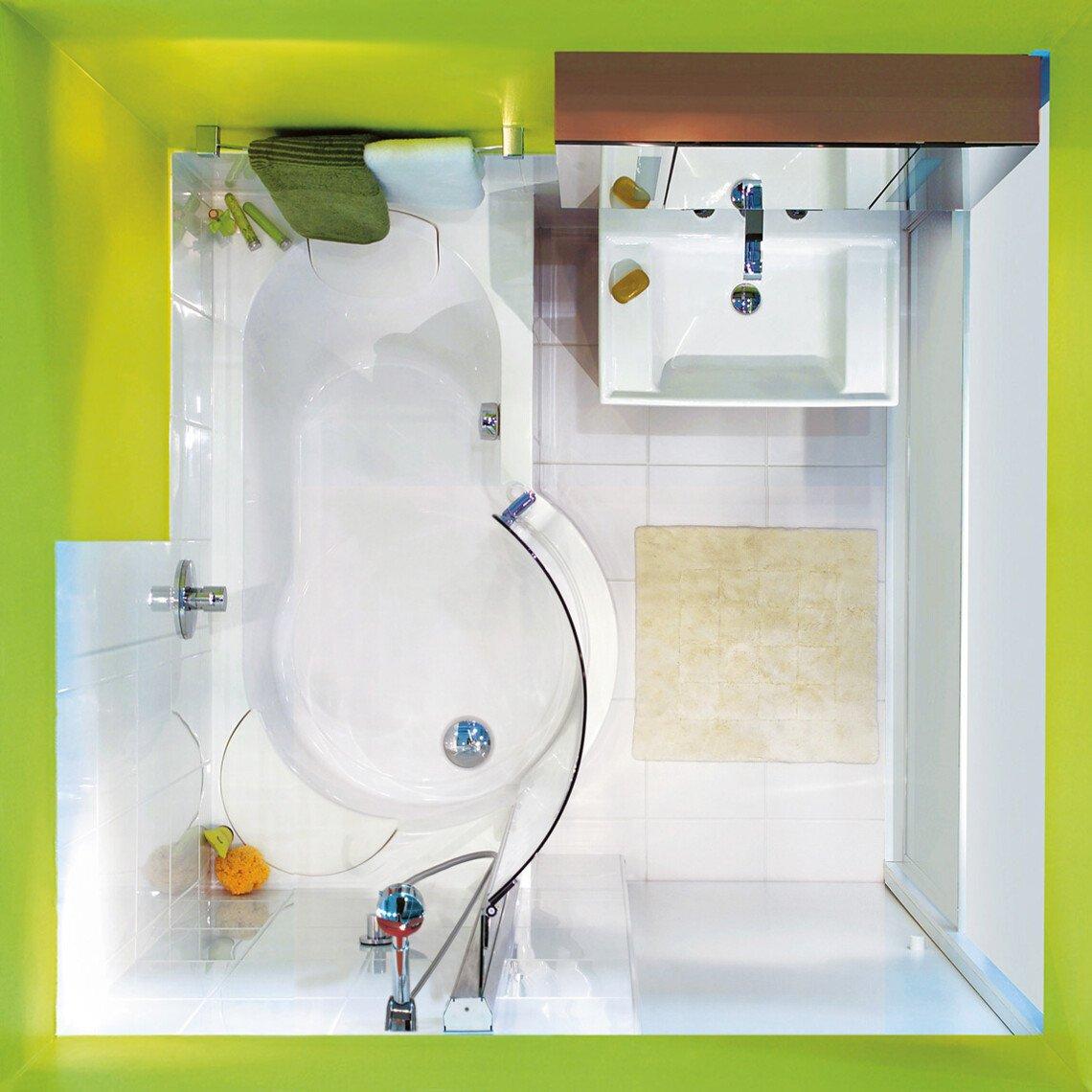 kleines bad ganz gro mit der twinline duschbadewanne. Black Bedroom Furniture Sets. Home Design Ideas