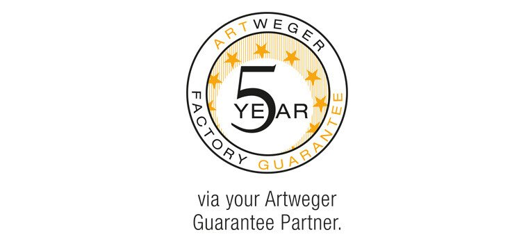 5 year factory guarantee | © Artweger GmbH. & Co. KG