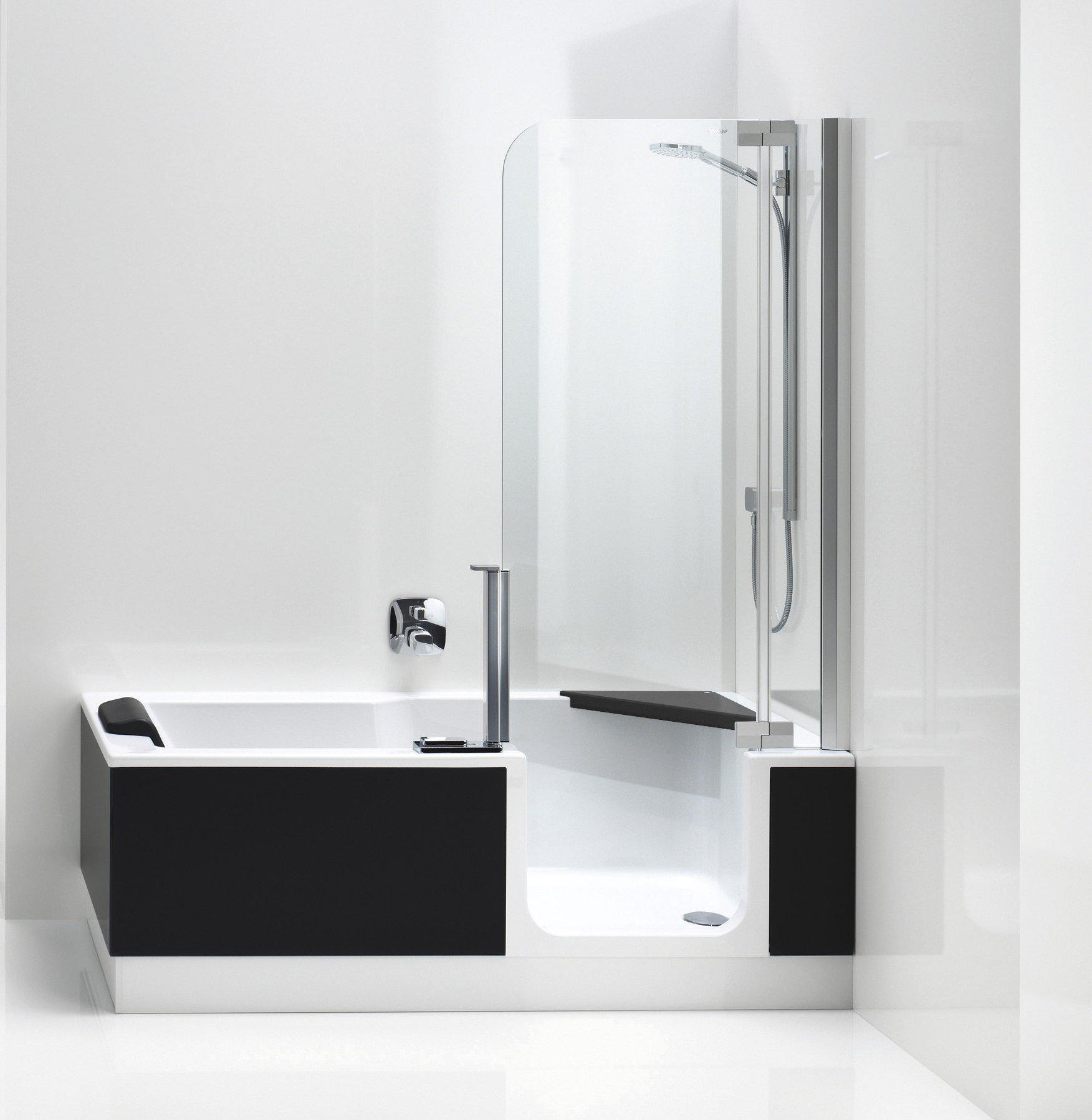 wannen ecksitz f r die dusch badewanne twinline 2. Black Bedroom Furniture Sets. Home Design Ideas