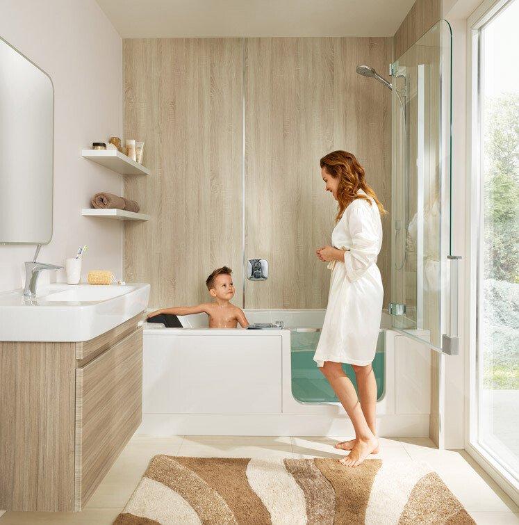 Das Badezimmer Aufhübschen Mit Kleinem Budget: Badrenovierung Mit Altholz Und Beton-Optik