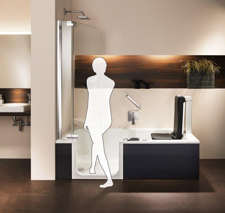 Duschbadewanne Artlift Mit Komfort-Hebesitz | Artweger