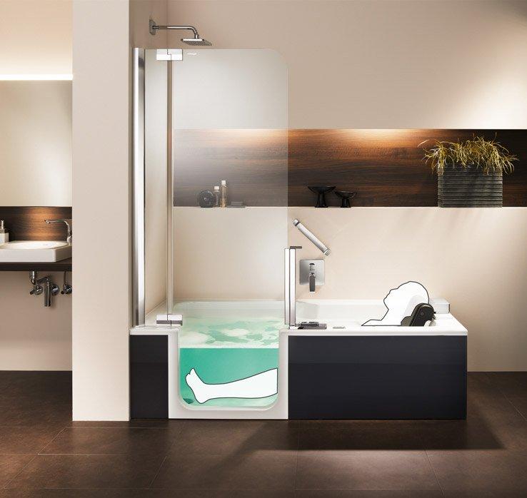 Artweger Deutschland shower bathtub artlift with seat lift | artweger