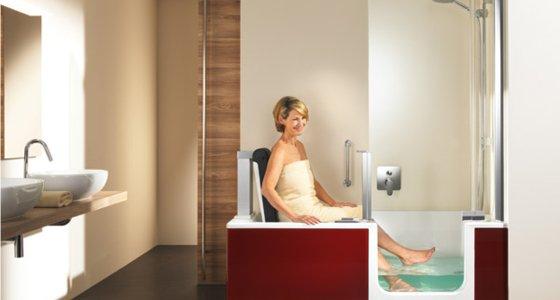 duschbadewannen twinline duschen und baden in einem. Black Bedroom Furniture Sets. Home Design Ideas