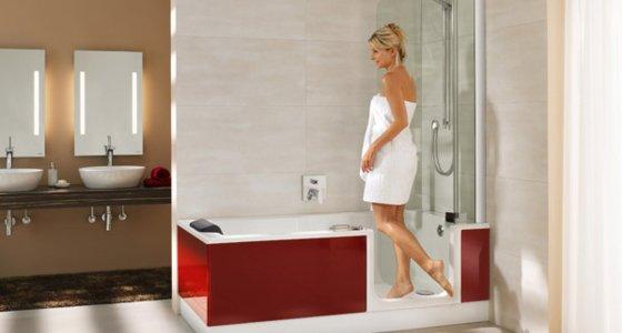Duschbadewannen TWINLINE - Duschen und Baden in einem