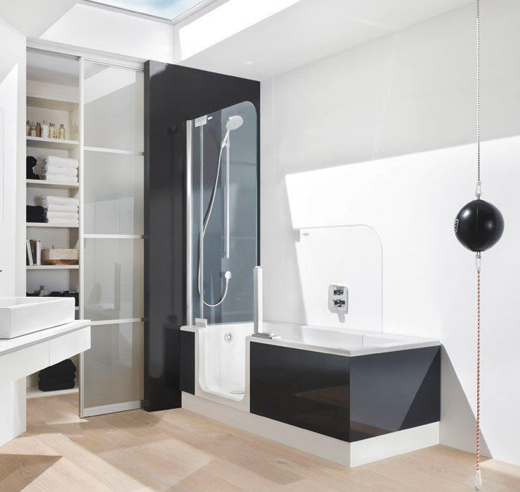 duschbadewanne twinline 2 badewanne der zukunft artweger. Black Bedroom Furniture Sets. Home Design Ideas