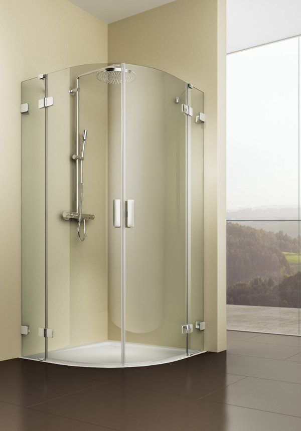 ARTWEGER 360 Round shower with two swinging doors, handle vertical | © Artweger GmbH. & Co. KG