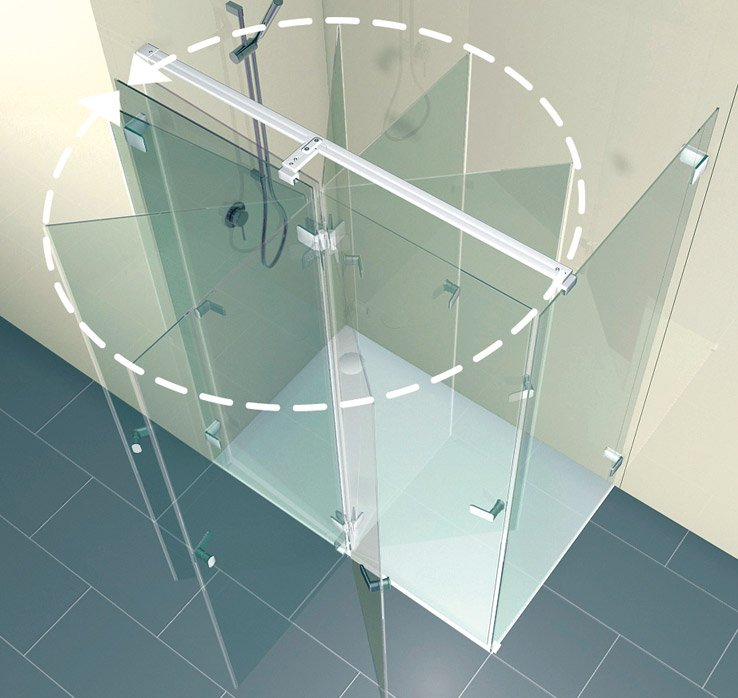 ARTWEGER 360 swinging door | © Artweger GmbH. & Co. KG