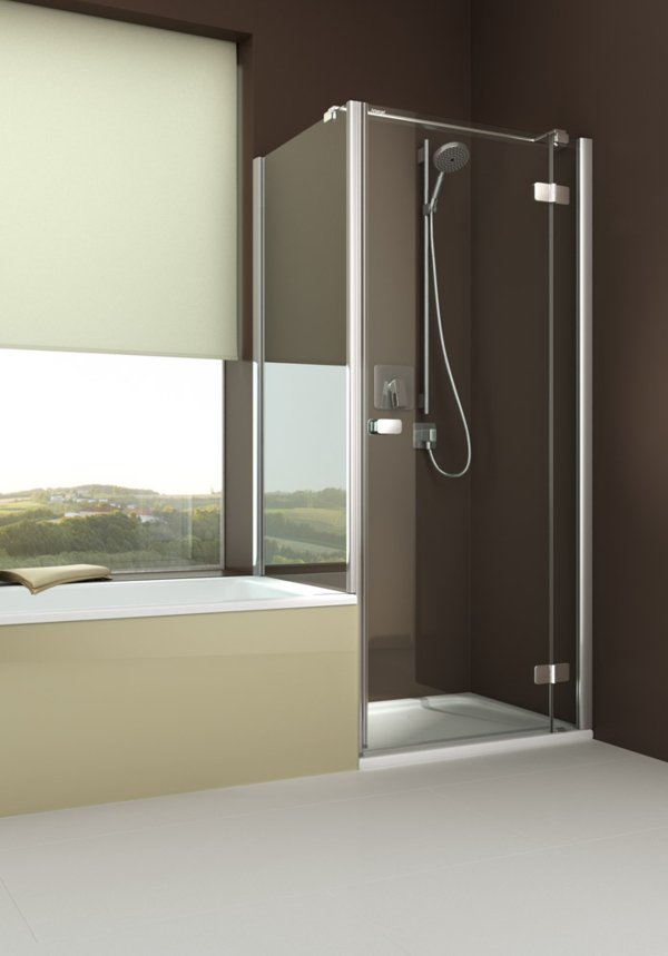 ARTWEGER 360 Swinging door on anchored part with short side wall, flush to the bathtub, handle horizontal | © Artweger GmbH. & Co. KG