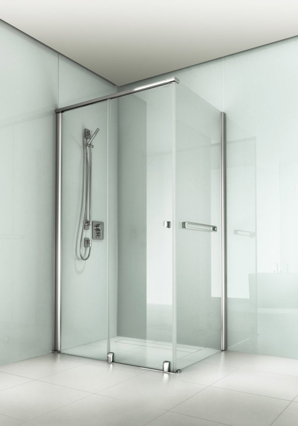 ARTWEGER 360 2-part sliding door with side wall, knob handle, towel rail | © Artweger GmbH. & Co. KG