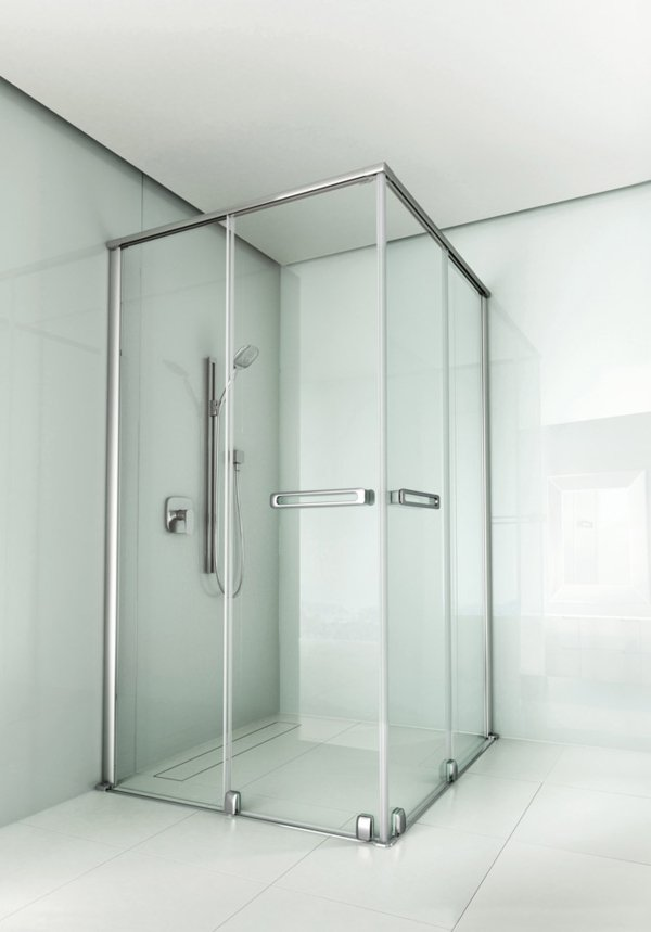 ARTWEGER 360 Corner access with sliding doors, bow handles | © Artweger GmbH. & Co. KG