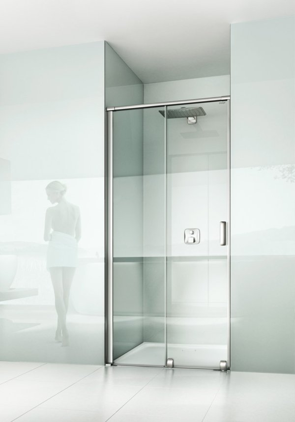 ARTWEGER 360 2-part sliding door in a niche, handle vertical | © Artweger GmbH. & Co. KG
