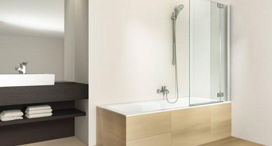 badewannenaufsatz von artweger spritzschutz mit wannenfaltwand. Black Bedroom Furniture Sets. Home Design Ideas